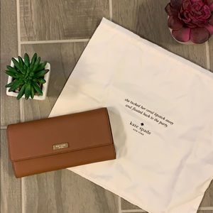 Kate Spade Wallet with Dust Bag (brown leather)
